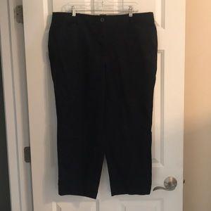 Talbots Curvy Navy Cropped Pants
